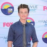 Chris Colfer en la gala de los Teen Choice Awards 2012