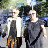 Las hermanas Hurtado despidieron a José Luis Uribarri en el tanatorio