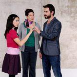 Los actores de 'Frágiles' Ruth Núñez, Santi Millán y Luisa Martín