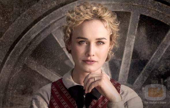 La actriz Dominique McElligott hace de Lily Bell