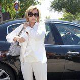 María Teresa Campos a su llegada al funeral de José Luis Uribarri