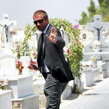 Manu Carreño acude al funeral de José Luis Uribarri