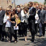 Darek y Susana Uribarri durante el funeral de José Luis Uribarri