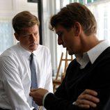 Jack Kennedy habla con su hermano Bobby