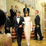 Jack y Jackie Kennedy se dirigen a un concierto en la Casa Blanca