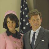 El presidente Kennedy y la primera dama de honor Jacqueline Bouvier