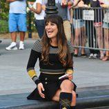 Lea Michele rueda en Nueva York la cuarta temporada de 'Glee'