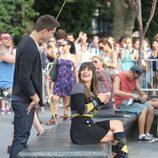 Lea Michele con Dean Geyer, su nuevo interés amoroso en 'Glee'
