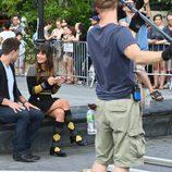 Lea Michele y Dean Geyer ruedan en Washington Square lo nuevo de 'Glee'