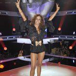 Rosario Flores en el plató de 'La Voz'