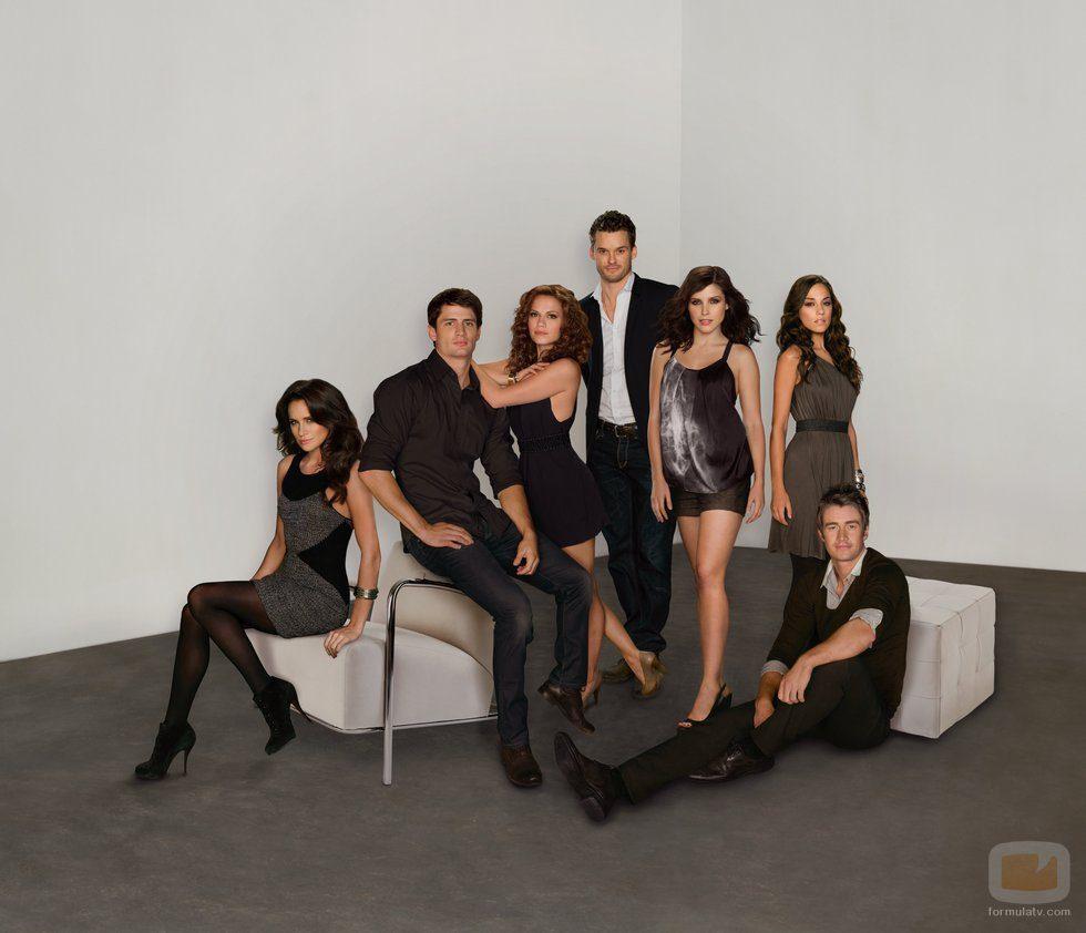 Posado de los actores de la novena temporada de 'One Tree Hill'