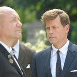 Greg Kinnear en una escena de 'Los Kennedy', dando vida al expresidente americano