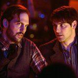 David Giuntoli y Silas Weir Mitchell en una escena de 'Grimm'