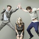 Emun Elliott, Stephen Wight y Amy Huberman en 'Threesome'