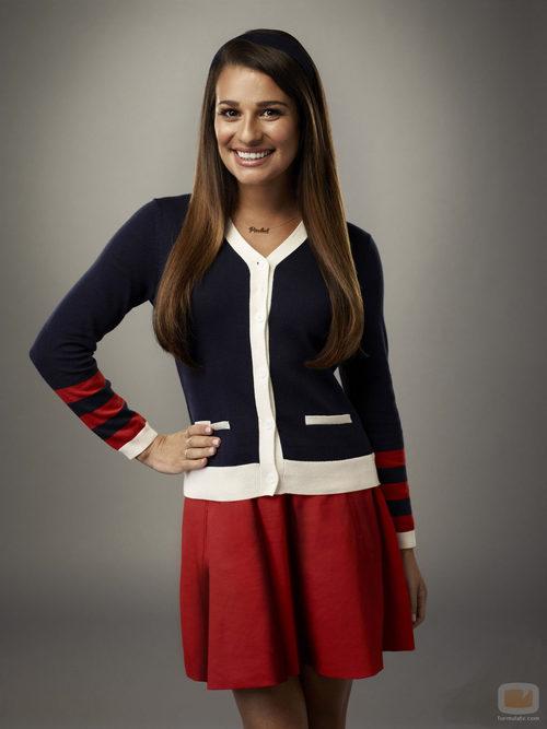 Lea Michele es Rachel Berry en la cuarta temporada de 'Glee'
