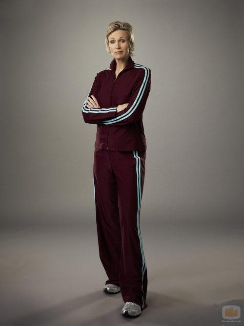 Jane Lynch vuelve a ponerse en la piel de Sue Sylvester en la cuarta temporada de 'Glee'