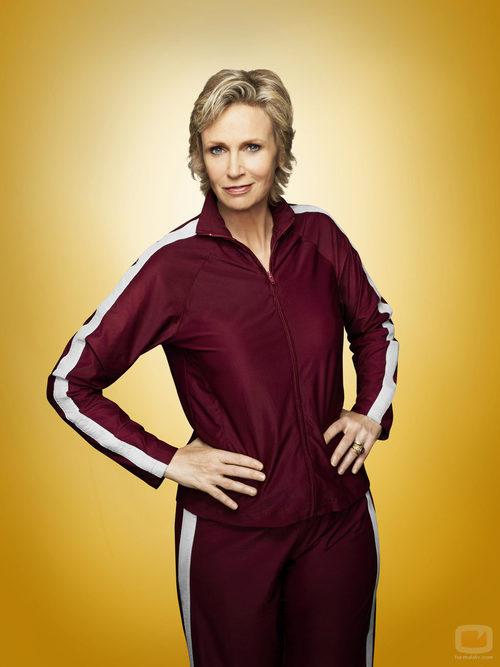 Jane Lynch es Sue Sylvester en la cuarta temporada de 'Glee'