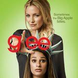 Kate Hudson y Lea Michele en el cartel promocional de la cuarta temporada de 'Glee'