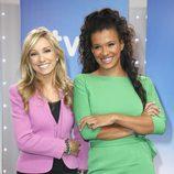 Marta Jaumandreu y Desirée Ndjambo, presentadoras de 'Telediario 2'