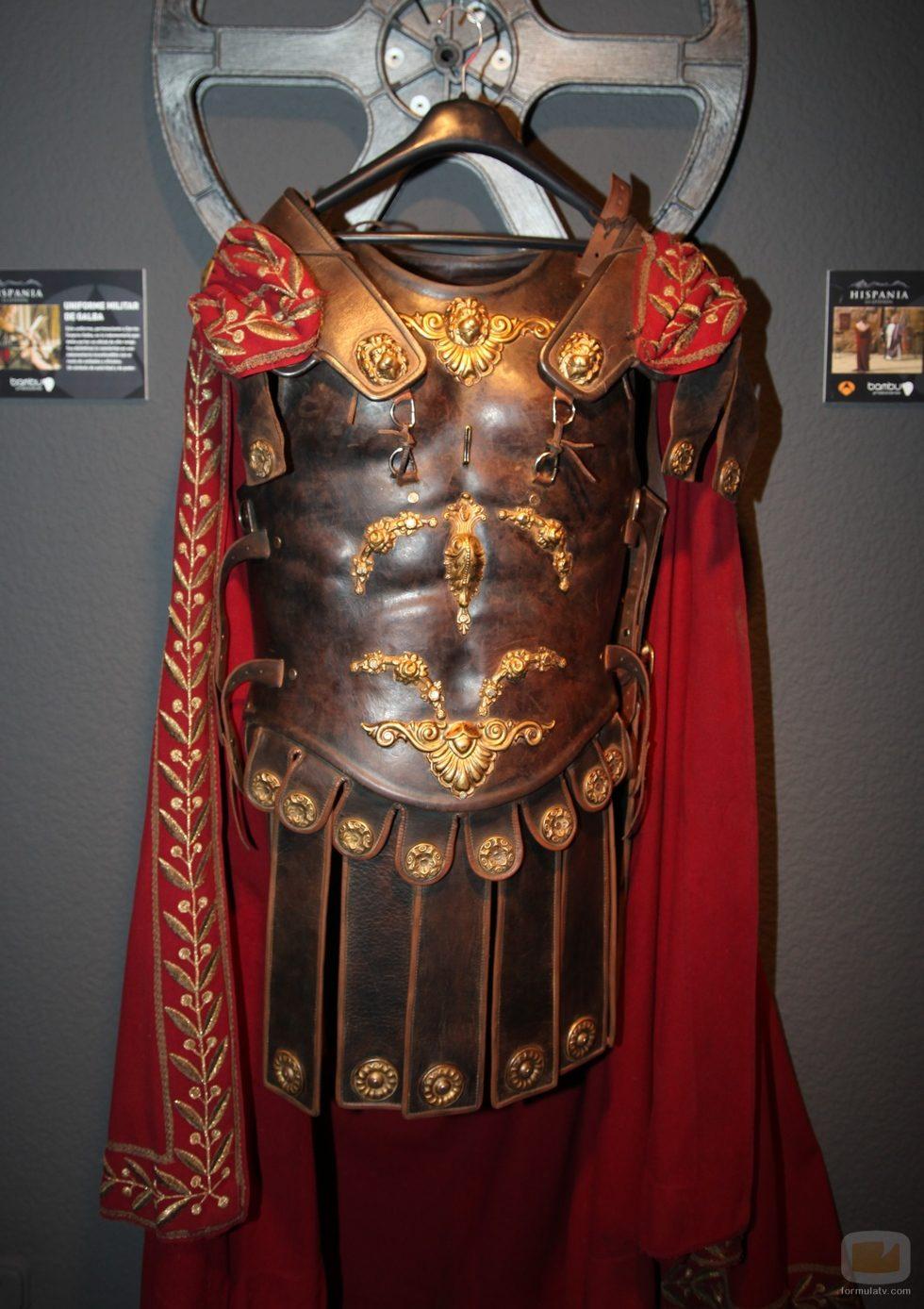 El traje militar de Galba de 'Hispania' en la exposición de series del FesTVal 2012