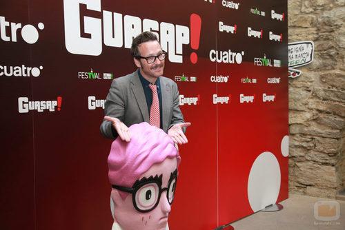 Joaquín Reyes y Hincli Mincli en la presentación de 'Guasap!' en el FesTVal