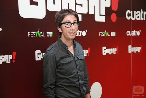 Enrique Pérez Vergara (Flipy) en la presentación de 'Guasap!' en el FesTVal de Vitoria
