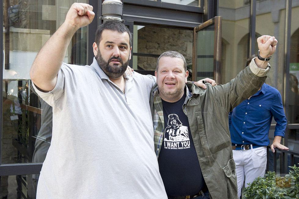 Los cocineros Alberto Chicote y David de Jorge en el FesTVal