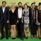 El reparto de 'Fenómenos' en la première de la serie en el FesTVal 2012