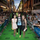 Amaia Salamanca y Eloy Azorín a su llegada a la ceremonia de clausura del FesTVal de Vitoria