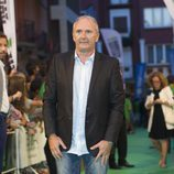 Xavier Deltell posa para los fotografos en la clausura del FesTVal de Vitoria