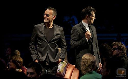 Risto Mejide y Luis Larrodera durante la ceremonia