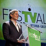 Boris Izaguirre presentó uno de los premios de la ceremonia de clausura del FesTVal de Vitoria