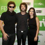 El equipo de 'El hormiguero' posa en la ceremonia de clausura del FesTVal de Vitoria