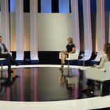 María Casado y Mariano Rajoy en un momento de la entrevista