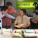 Adolfo, Javier, Benito y Daniela en una escena de 'Fenómenos'