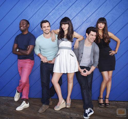 El reparto de 'New Girl' en la segunda temporada de la serie