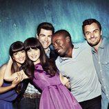 Foto promocional del elenco de 'New Girl' en su segunda temporada