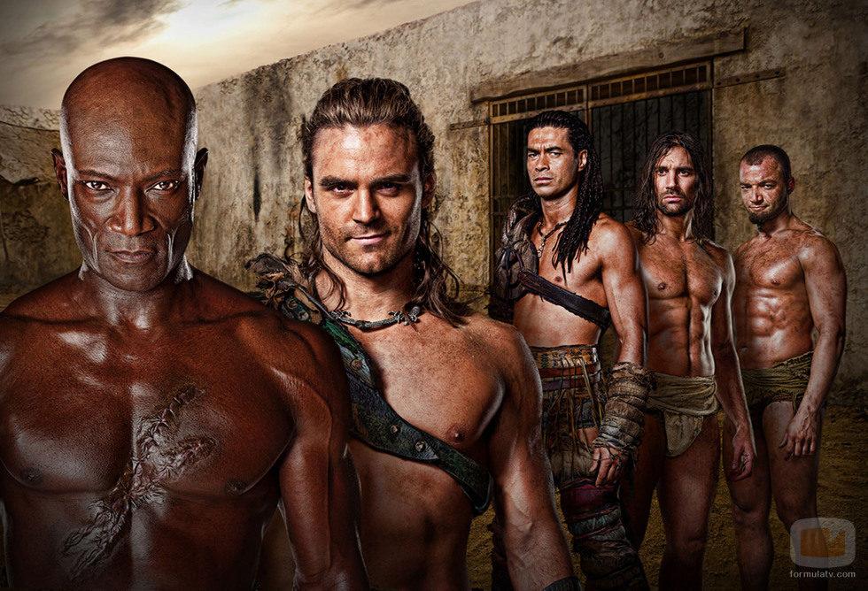 Grupo de gladiadores de 'Spartacus: Dioses de la arena'