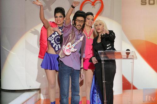 Rodolfo Chikilicuatre, Disco y Gráfica con Raffaella Carrá