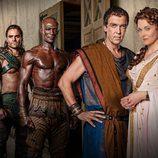 Cuarteto protagonista de 'Spartacus: Dioses de la arena'