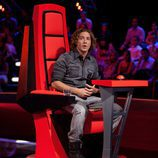 David Bisbal en su silla giratoria de 'La Voz'
