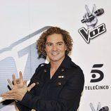 David Bisbal durante la rueda de prensa de 'La Voz'