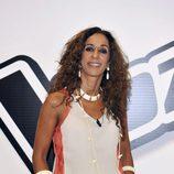 Rosario Flores durante la rueda de prensa de 'La Voz'