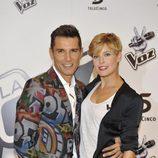 Los presentadores de 'La Voz', Jesús Vázquez y Tania Llasera