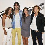 Rosario, Bisbal, melendi y Malú en la rueda de prensa de 'La Voz'