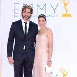 David Benioff y Amanda Peet en los Emmy 2012