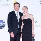 Michael C. Hall y Morgan Macgregor en los Emmy 2012