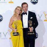 Damian Lewis y Claire Danes, ganadores de los Emmy 2012