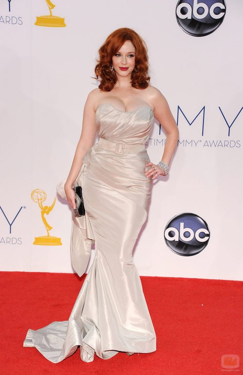 Christina Hendricks de 'Mad Men' en los Emmy 2012