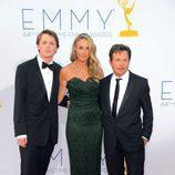Michael J. Fox de 'The Good Wife' con su mujer e hijo en los Emmy 2012
